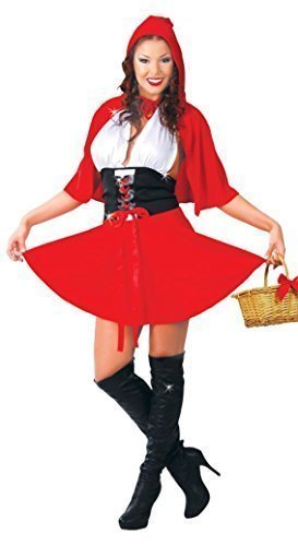 Sexy da Cappuccetto Rosso, Libro, Favola per l'addio al nubilato, per Costume rosso Large
