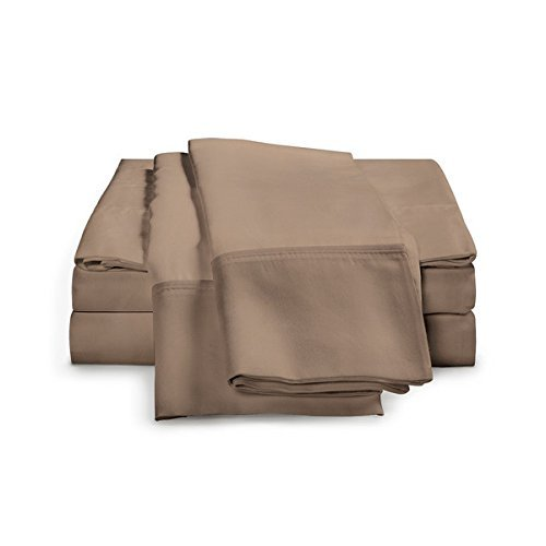 eLuxurySupply 4Bambus Bogen Set-Ultra Weiche 100% Rayon aus Bambus, Rayon aus Bambus, Taupe, King Size -