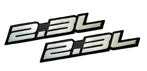 2 x (pair/Set) 2.3L Liter Embossed SILVER on Black Highly Polished Silver Real Aluminum Auto Emblem Badge Nameplate for Honda Odyssey Accord LX DX EX SE Prelude Acura RDX iVtec CL Turbo Turbocharged Mazda3 Mazdaspeed 3 5 6 CX-7 S AWD Grand Touring Sport SUV B2300 Tribute Millenia Mitsubishi Ralliart Lancer Evolution Evo Isuzu Amigo Impulse Pickup Oasis Sedan coupe Wagon 2 3 4 5 2dr 3dr 4dr 5dr door hatchback turbo turbocharged