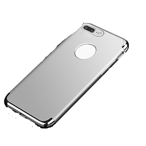 Ouneed® Hülle für iphone 7 plus 5.5 Zoll , Luxury thin Electroplate Hard Back Case Cove für iPhone 7 Plus 5.5 Zoll (5.5 Zoll, Schwarz) Silber