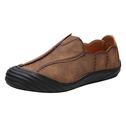 Mode für Männer Lederschuhe Outdoor Lazy Schuhe British Style Tool Herren Schuhe -