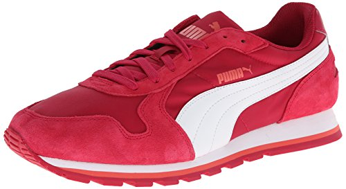 Puma Herren-St Runner Nylon Schuhe Cerise/White