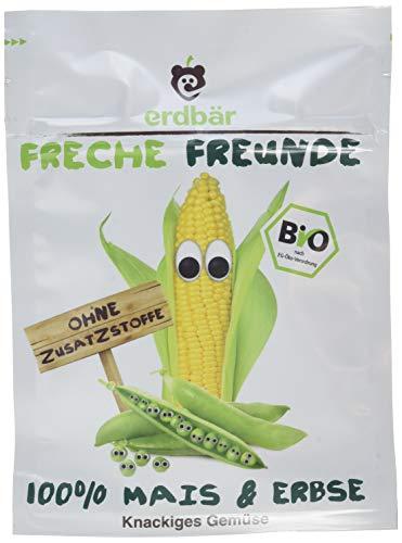 """Freche Freunde Bio Gemüsechips """"100% Mais & Erbse"""", 12er Pack (12 x 20 g)"""