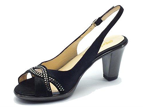 MELLUSO  R5892 Nero, Sandales pour femme Noir Nero Noir