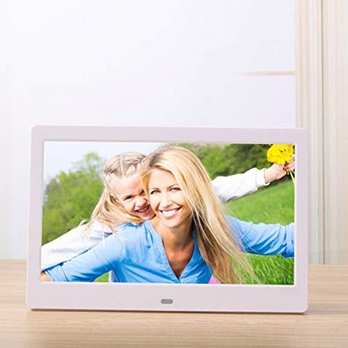 SMDFDN 10 Zoll LCD LED TFT Digitaler Fotorahmen Videomusikkalender/Uhr/E-Book (Color : White)