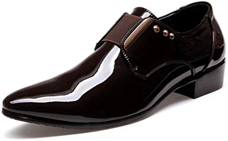 Zapatos de Hombre Cuero Primavera/Otoño Moda/Zapatos de Punta Estrecha/Zapatos Formales/Slip-ons/Rivet Zapatos...
