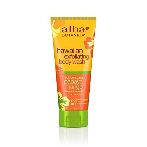 Alba Botanica - Hawaiian Body Wash Exfoliating Papaya Mango - 7 fl oz - Alba-peeling