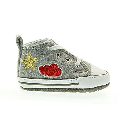 Converse - Converse All Star Scarpe Culla First Star - Grey, 2K