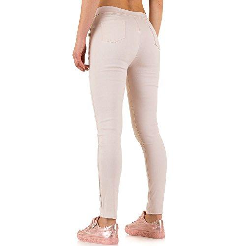 High Waist Treggings Skinny Hose Für Damen bei Ital-Design Rosa
