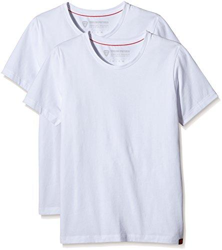 Strellson Herren Unterhemd T-shirt 2er Pack Weiß (white 10)