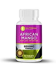 African Mango von Nutrikal - 6000mg Gewichtsmanagement, 60 Tabletten Nahrungsergänzung