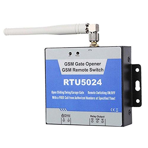 IPOTCH Fern-GSM Türöffner + Antenne + Terminal Relais-Schalter Schiebetor-Tür-Garage-EIN/AUS-Steuerung Für Autorisierten Türzugang