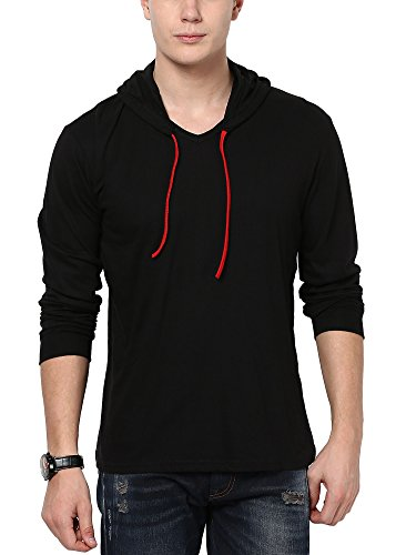 Katso Men's Cotton T-Shirt (KATSO-HOOD-FULL-BLACK-XL_X-Large_Black)