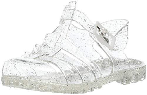 Absolute Footwear , Mädchen Sandalen, Silber - farblos - Größe: 31 EU