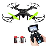 Potensic HD Kamera große Drohne Spielzeug 360 Drehung,FPV Monitor Video Live 3D Flip Funktion Heading Hold Mode 2.4GHz 6-Achsen-Gyro RC Quadrocopter halten der Höhe (grün)
