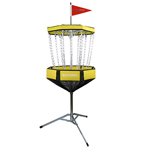 Eurodisc CHAINWALKER GELB Disc Golf Korb ähnlich DGA Mach-Lite, inkl. 1x Putter -