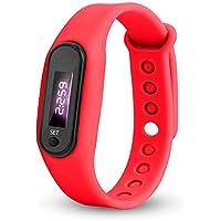 BIBOKAOKE Reloj Pulsera de Actividad Inteligente Silicona Al Aire Libre Unisex Relojes Deportes con LED Pantalla Impermeable