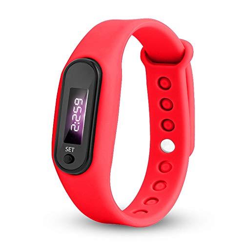 Uhren Damen Armbanduhr Run Step Watch Armband Schrittzähler Kalorienzähler Digital LED Gehabstand Uhr Sport-Armband,ABsoar