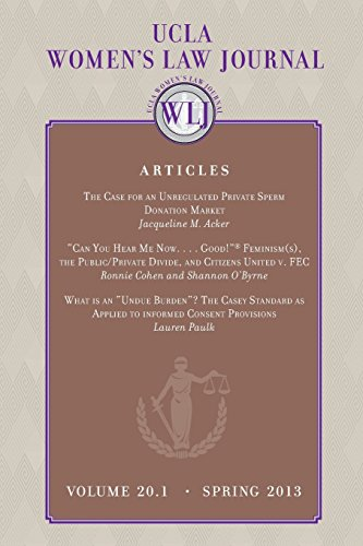 UCLA Women's law Journal (Volume 20.1) Spring 2013 por UCLA Women's Law Journal