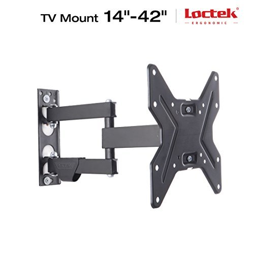 Loctek L1 Black Tilt Swivel Extend Full Motion Tv Wall Mount Bracket Vesa 200*200 for Screen 14-42 Tv Samsung/coby/lg/vizio/sharp/sony/toshiba/seik Etc-(l1 14-42) by Loctek (Coby Tv)