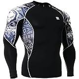 Fixgear Mens Womens Skull Printed Running Compression Shirt Long Sleeve S ~ 2XL