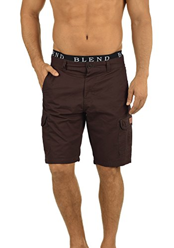 BLEND 20702259ME Crixus Cargo Shorts, Größe:S;Farbe:Coffee Brown (75103) (Cargo Slim Shorts)