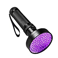 AidShunn UV Flashlight, Stain Urine Detector Light 100 LEDs Pet Dog Cat Baby Clothes, Kitchens, Bathroom, Authenticate Currency, Dangerous Leaks