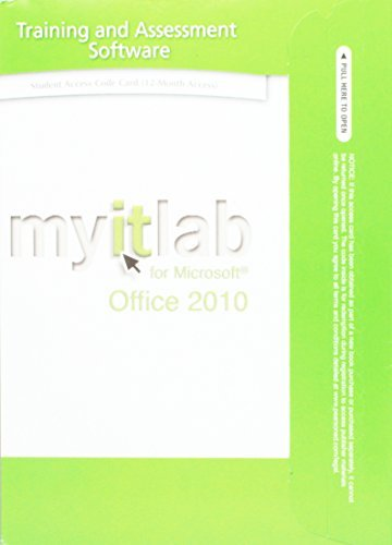 myitlab without Pearson eText -- Access Code -- for Office 2010 by Pearson Education (2013-05-13)