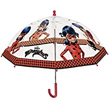 Paraguas Perletti perletti75260, diseño Miraculous-Lady Bug, 42 x 8 cm, cortavientos, apertura de seguridad