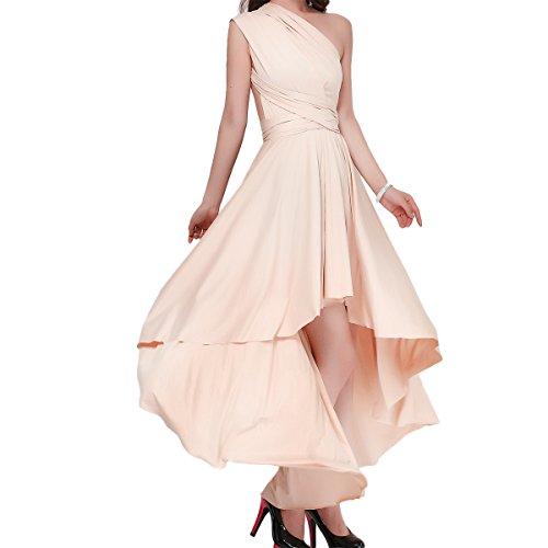 IWEMEK Damen Frauen Multi-Tragen Kreuz Halfter Abendkleid Brautjungfer Hi-Lo Kleid Multiway-Kleid...
