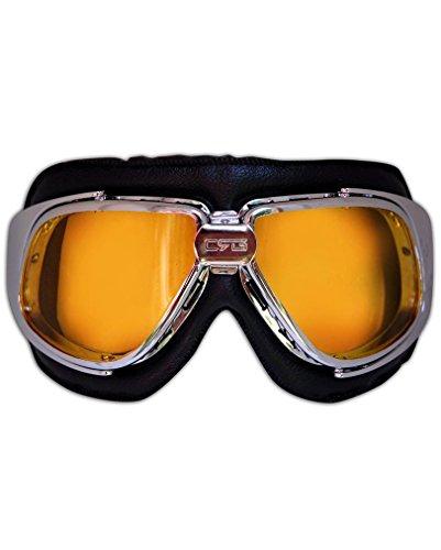 Preisvergleich Produktbild Bikerbrille mit getönten Gläser als Kostüm Zubehör
