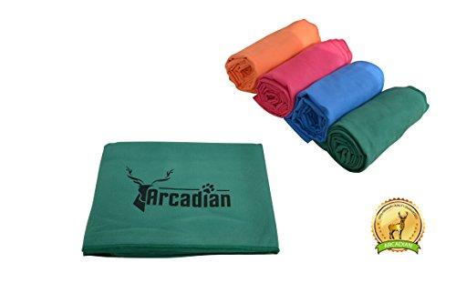 Großes Mikrofaser Hundehandtuch von Arcadian in Blau, Grün, Orange und Rosa. Diese lebhaften farbigen Handtücher machen das perfekte Geschenk für Ihr geliebtes Haustier. Diese Handtücher sind aus hochwertigem Mikrofaser hergestellt, sie sind leicht, schnell trocknend und super saugfähig. Geeignete Größe für alle Rassen und ist fantastisch, wenn sie als Sitzbezug, Bettdecke, Kistenauskleidung oder Kofferraum oder Sitzpolster verwendet werden. 100{7b44023e3468084dd707625d31508b55c65056b05b2300425044ad9c21b3a2fd} Zufriedenheitsgarantie!