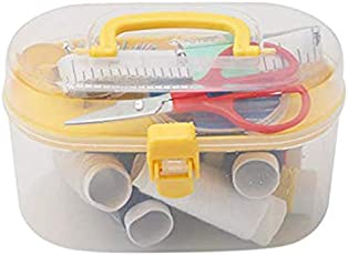 Sewing Machine Kit by House of Quirk Small Craft Sewing Supplies with Organizer Travel Plastic Storage Box