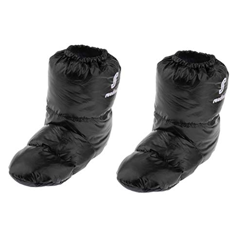 CUTICATE 2Pair Duck Down Booties Puffy Stiefel Sockenpantoffeln Für Männer Frauen Camping Home -