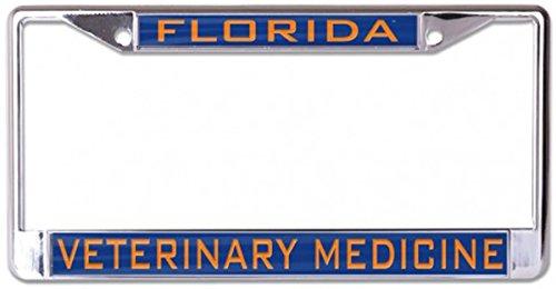 Wincraft Universität von Florida VETERINÄRMEDIZIN Nummernschild Rahmen, Metall mit Acryl, 2Eingelegtes Passepartout Löcher