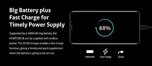 HOMTOM S8 - 5 7 pulgadas  18  9 ratio full vision  Android 7 0 4G smartphone  13MP c  mara delantera    5MP   16MP  C  mara trasera dual  Octa Core 1