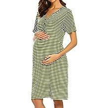Yying Pijamas de Lactancia Ropa de Dormir Vestido de Maternidad Ropa de enfermería para Mujeres Embarazadas