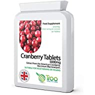 Cranberry Supplement (5040mg) - 90 Tablets | High Strength Daily Capsules | UK Manufactured | Quality Guaranteed