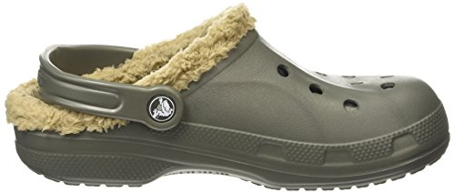 Crocs Baya Lined, Sabots mixte adulte Gris (Dusty Olive/Khaki)