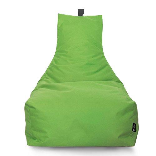 BuBiBag Sitzsack Lounge Sitzsack Sitzkissen XXL Tobekissen Bodenkissen Beanbag Kissen, für Kinder und Erwachsene (Kiwigrün)