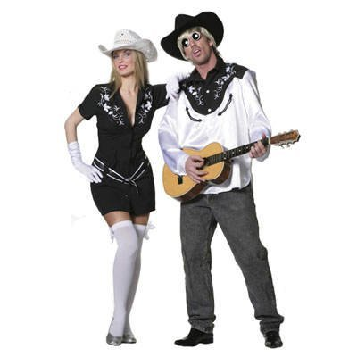 PARTY DISCOUNT Sale Damen-Kostüm Rhinestone Cowgirl Schwarz Gr. 36