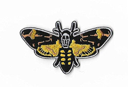 Hellraiser Diy Kostüm (Death 's Head Moth Patch (9cm) Schweigen der Lämmer bestickt Eisen/Nähen auf Badge Aufnäher Horror Film Souvenir DIY)