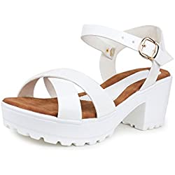 Do Bhai Sandal-Gungun Heels for Women (EU39, White)