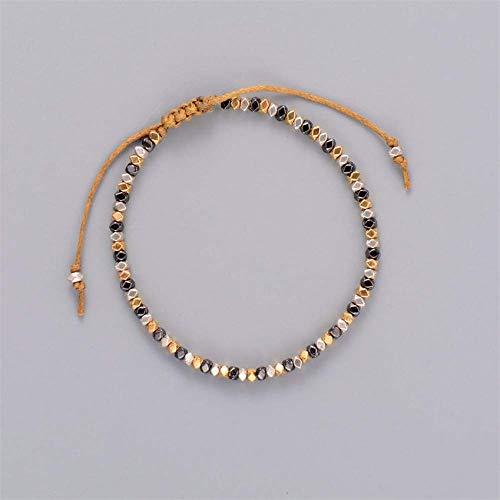 Armband Armreif,Schmuck Geschenk,Simple Bracelet New Fashionable Metal Bead Adjustable Bracelet Vintage Hollywood Beaded Bohemia Bracelets for Women