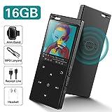 Lettore MP3 da 16 GB con Bluetooth 4.2, SUPEREYE lettore musicale Audio digitale portatile Lossless Sound Lettore musicale con radio FM/Picture/E-book, supporto espandibile fino a 64G, cuffie incluse