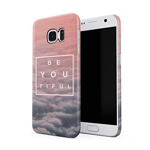 Beautiful Cute Be Youtiful PClouds Tumblr Dünne Rückschale aus Hartplastik für Samsung Galaxy S7 Handy Hülle Schutzhülle Slim Fit Case Cover