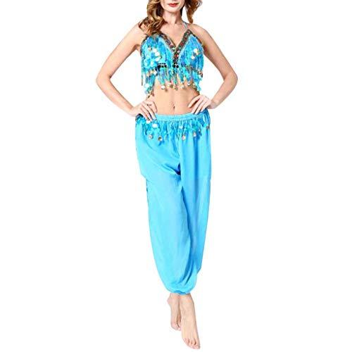 Aladdin Kostüm Damen Bauchtanz Kostüm Oberteil Hose Set Piebo Orient Kostüm Faschingskostüm Chiffon Karnevalkostüm Indischer Tanz Darbietungen Kleidung Festival Show - Tanz Show Kostüm Billig