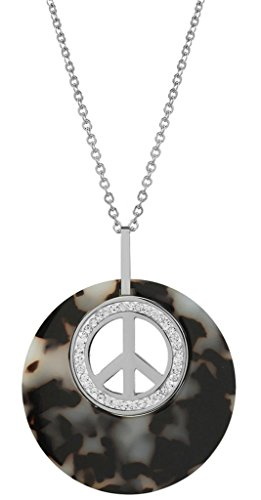 gnzoe-jewelry-womens-jewelry-sets-white-peace-peace-icon-pendant-chain-stud-earrings