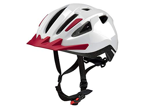 Crivit Kinder Fahrradhelm Helm Kinder Helm Bicycle Helmet 13 Luftkanäle für optimale Luftzirkulation (weß-rot)