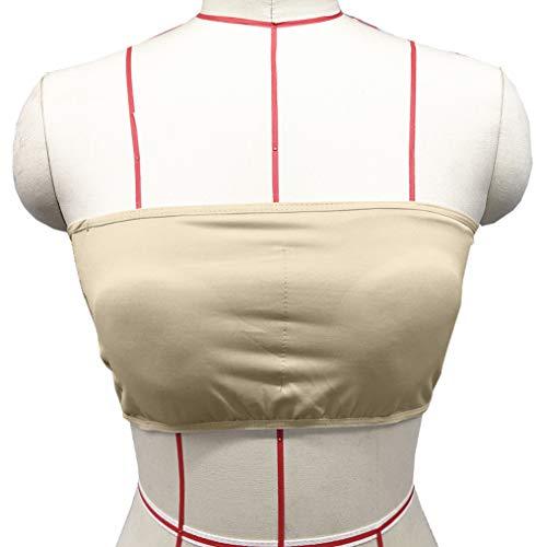 Sport BHdamen Liusdh Double Ladies Plus Size Trägerloser BH Bandeau Tube Abnehmbares, gepolstertes Top Stretchy(Brown,XL) -
